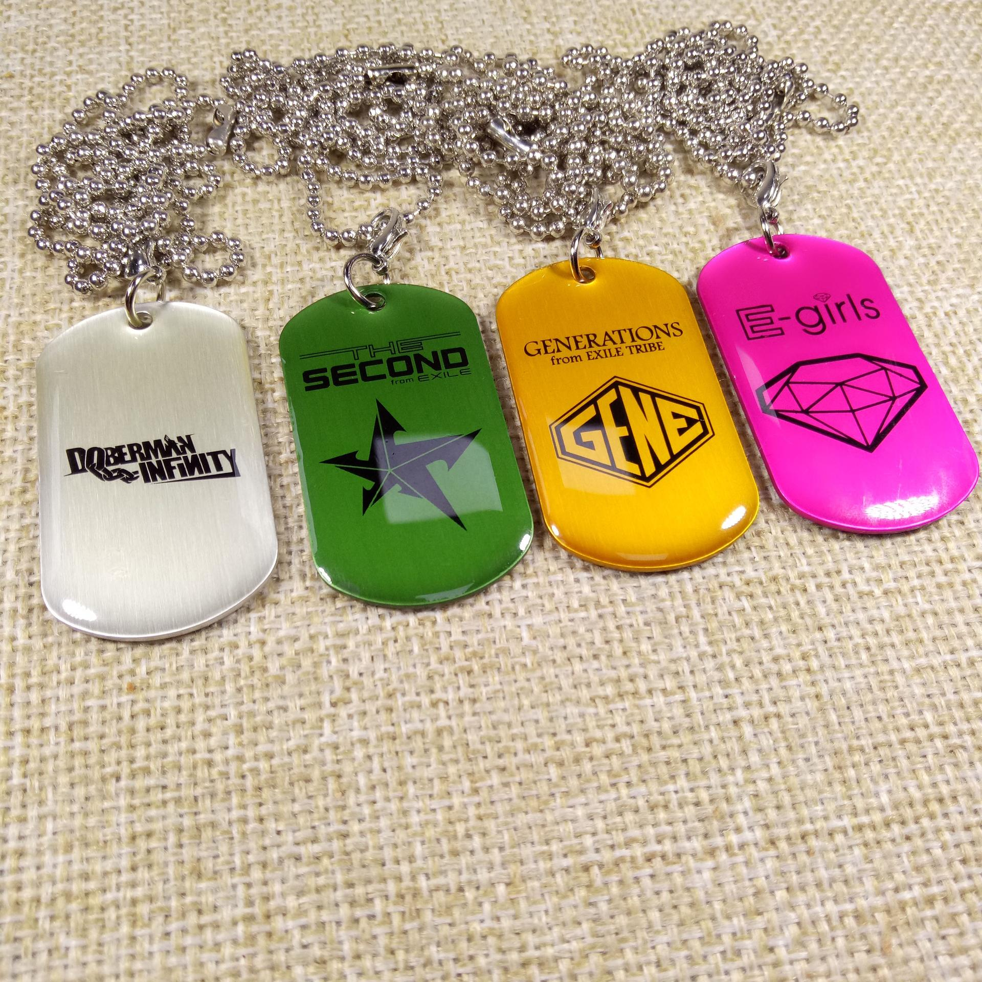 Europe style fashion cheap customized printed sexy girl dog tags