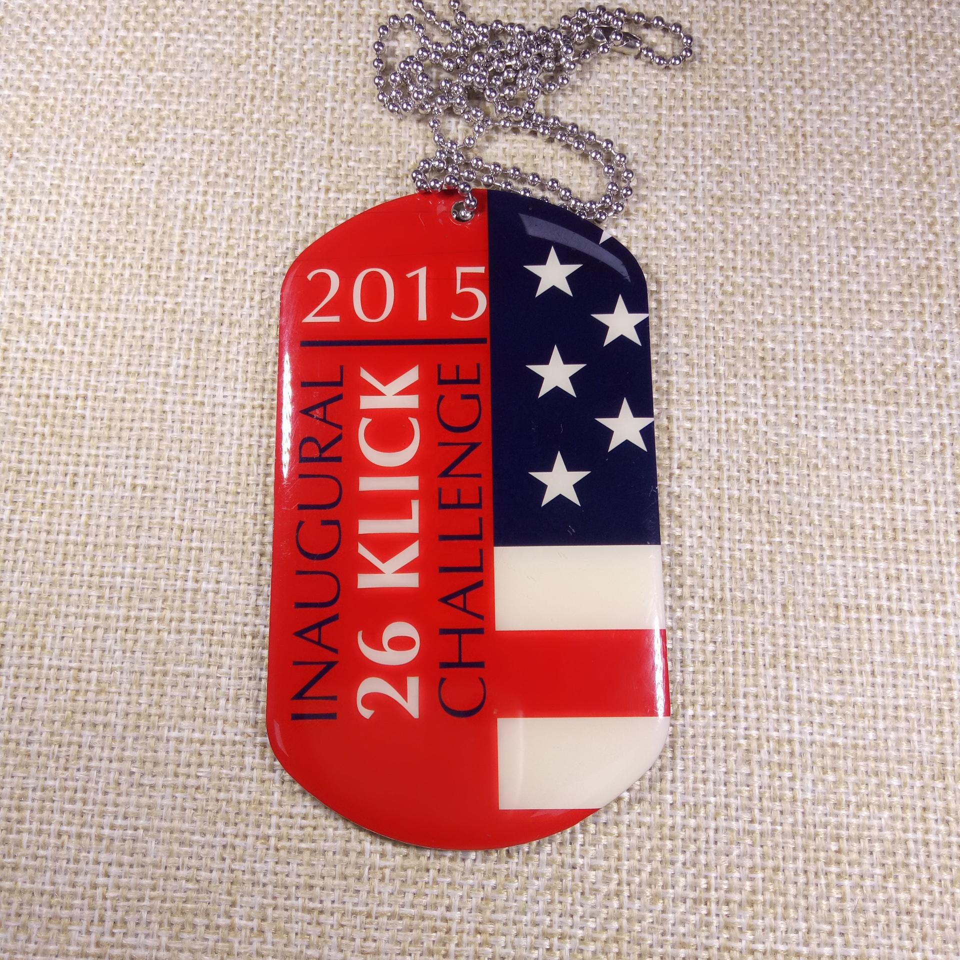 USA flag printed customized popular dog tag with logo printing and epoxy