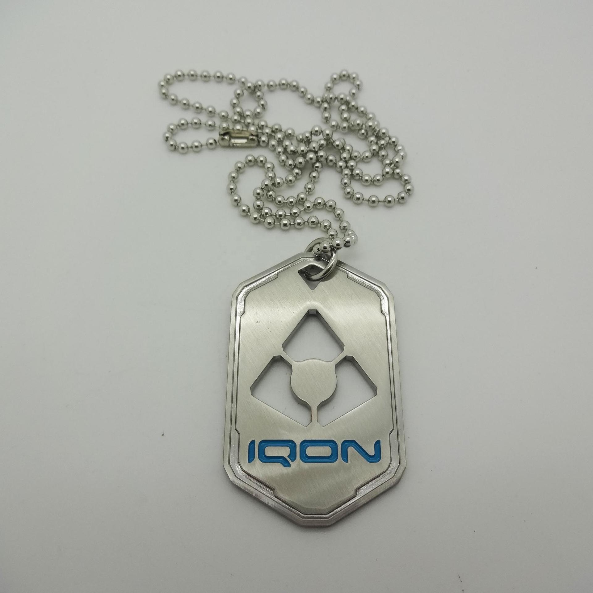 Metal zinc alloy custom shape military army dog tag with enamel filled