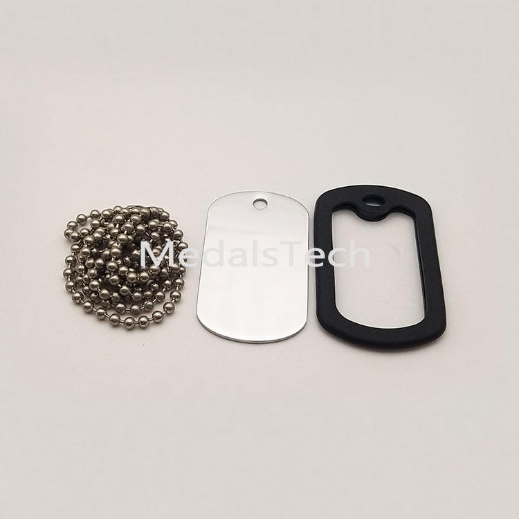 Cheap aluminum stainless steel sublimation blank metal dog tag