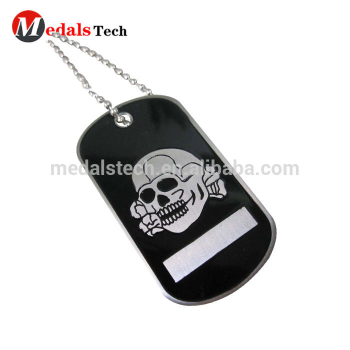 PromotionalOEM ODM common size aluminum anodizing black dog tags