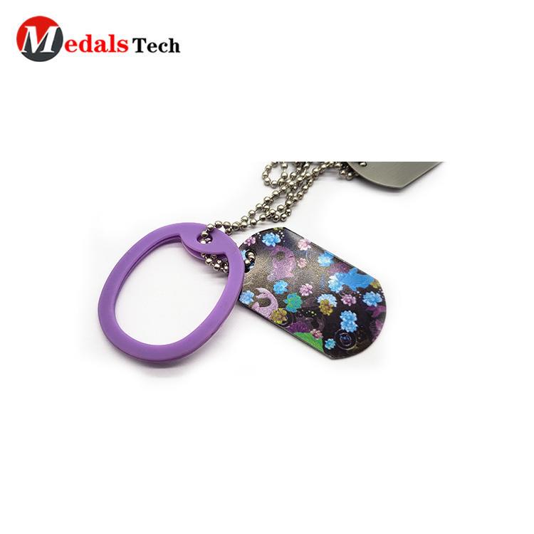 Custom blank custom stainless steel spray color dog tag