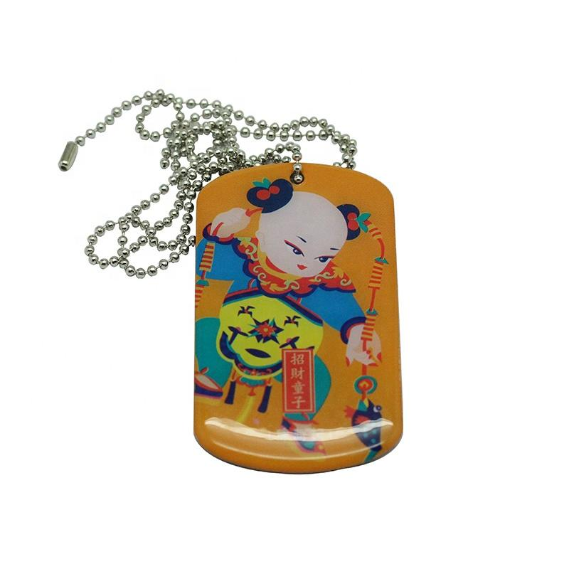 manufacture cheap offest printing military dog tag for sale