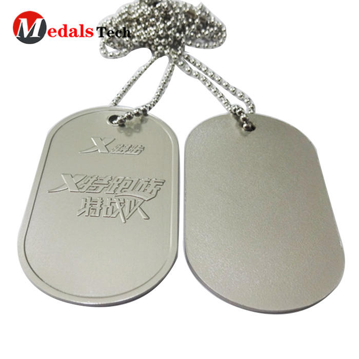 2019 bulk wholesale custom cheap metal blank military dog tag