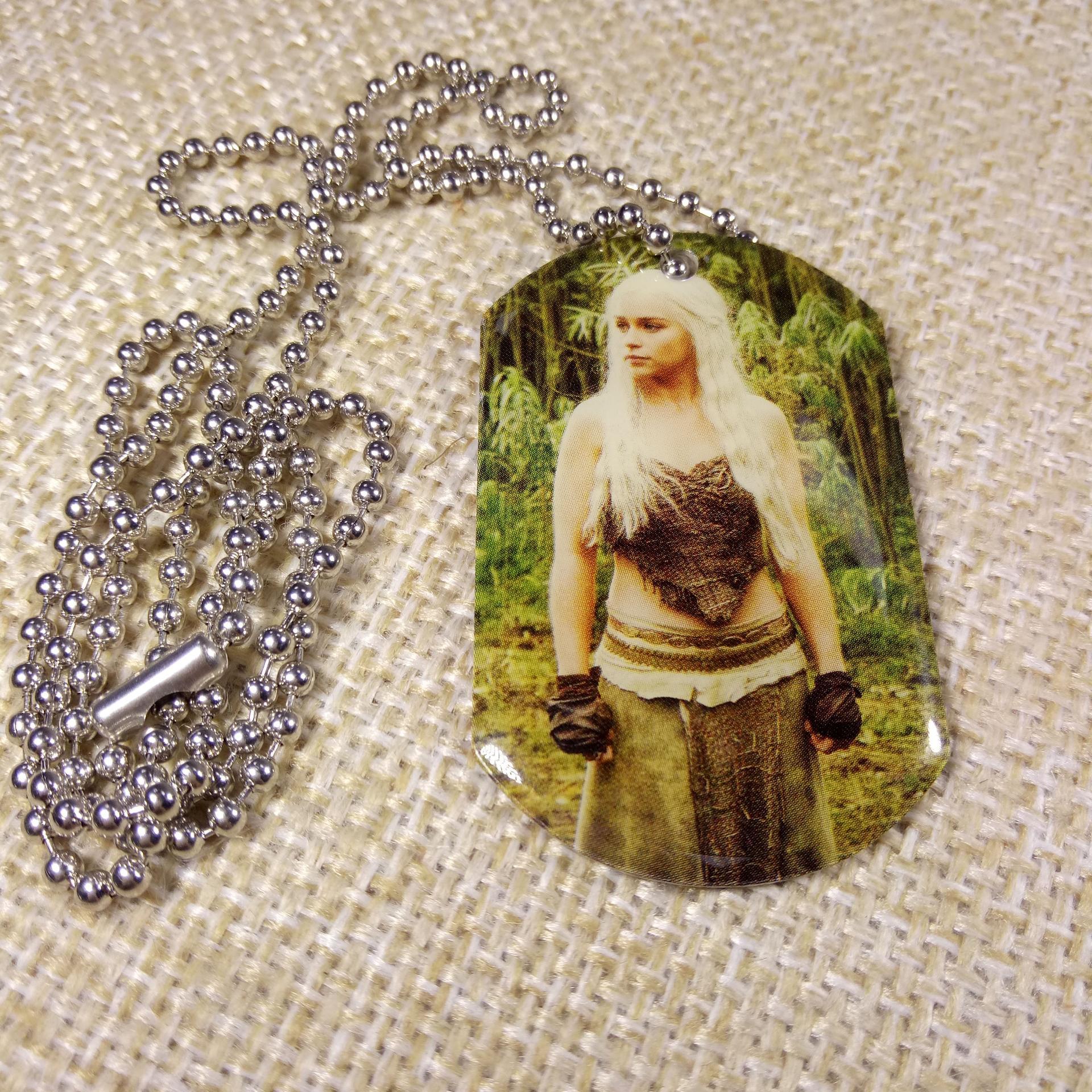 2020 promotional custom printing aluminum dog tag necklace