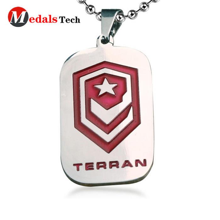 Wholesale custom aluminum military id metaldog tag