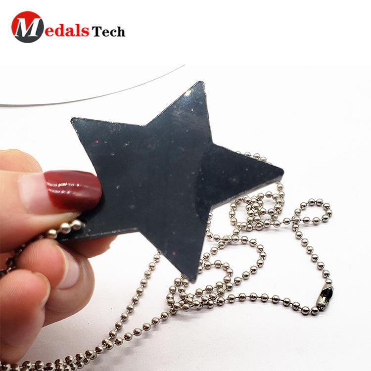 Custom shaped cute color filledgift embossed logo dog tag