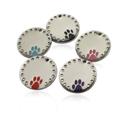 Round shape customized metal dog id tag