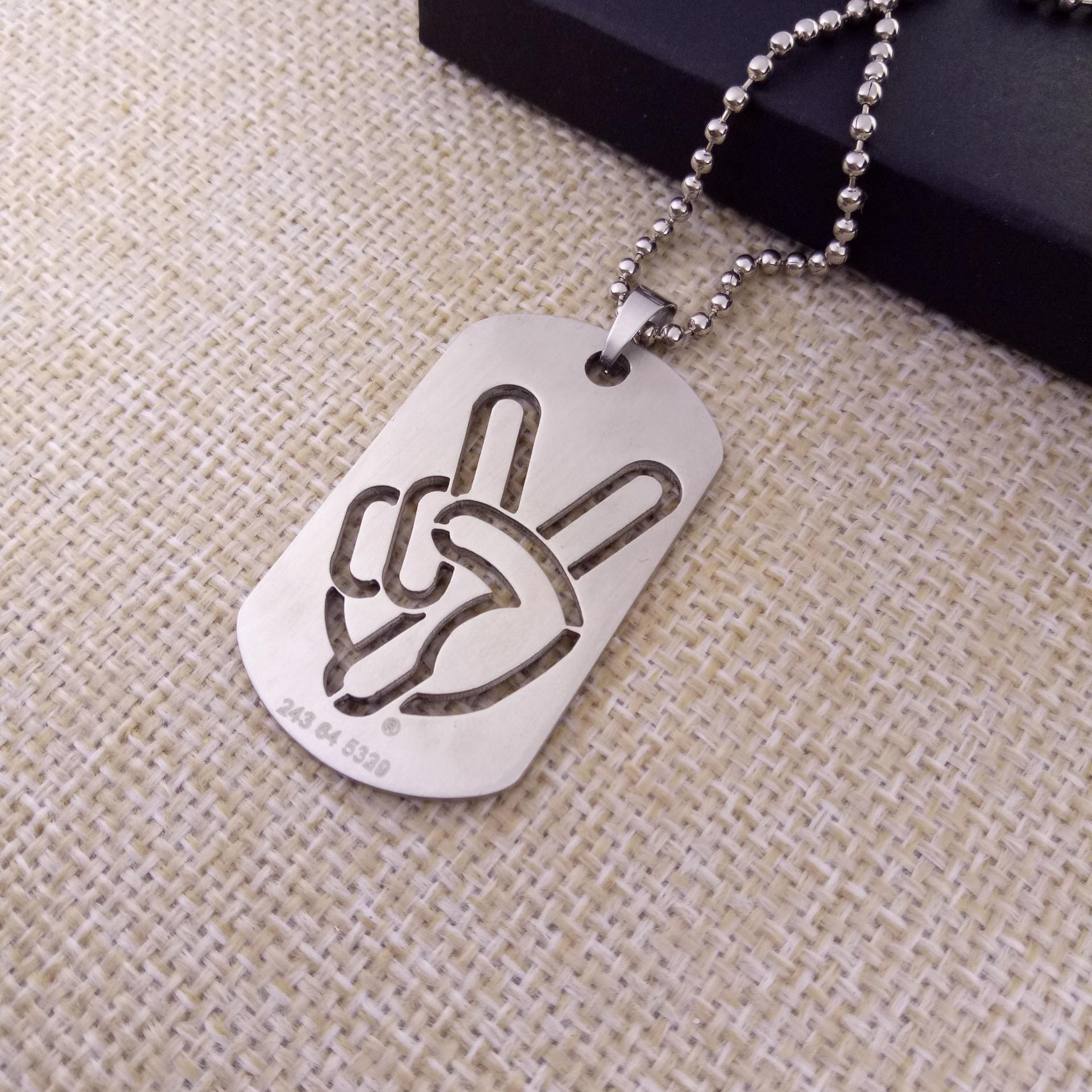 NO MOQ stainless steel military dog tags with cut out logo
