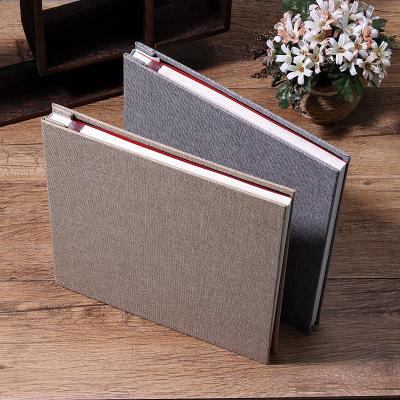 product-Bulk DIY Linen Cover Plastic Sheets Photo Memory Book-Dezheng-img-1