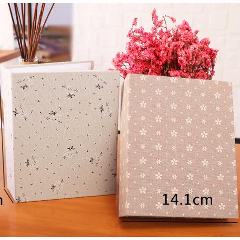 Novelty Style Floral Pattern Printing DIY Photo Album With 50 Inner Plastic Sheets