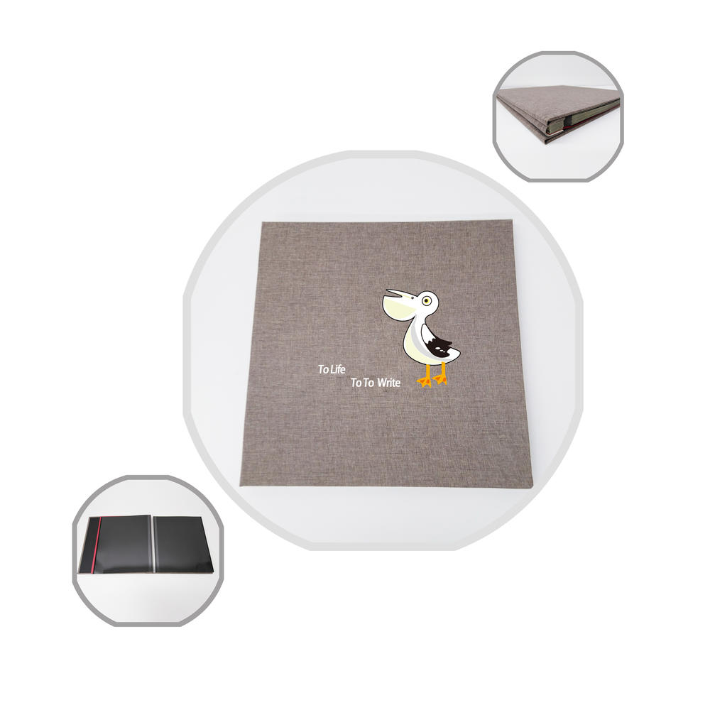 Linen Cover Girl Beautiful Photo Album With Adhesive Pages