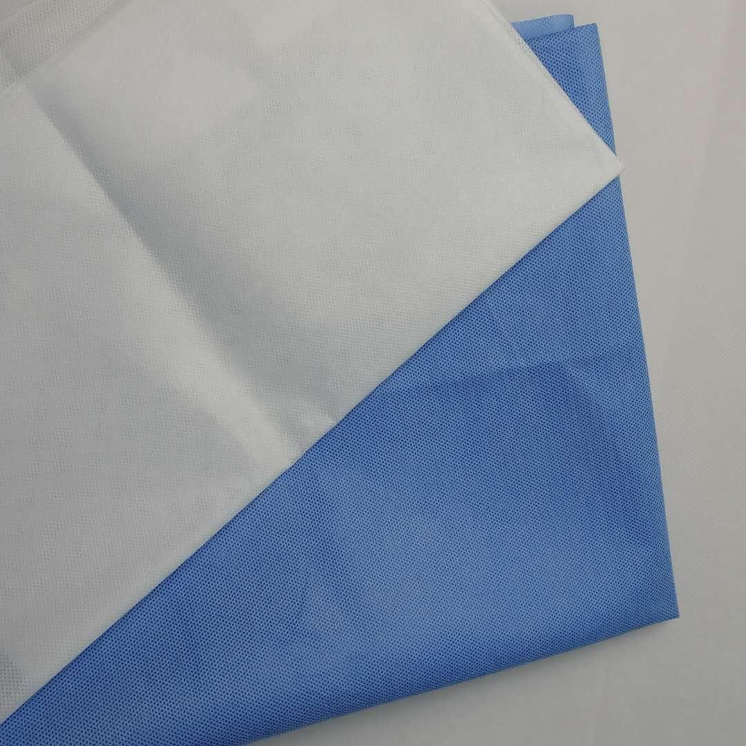 Sunshine factory S/SS/SMS blue polypropylene spunbonded nonwoven fabric