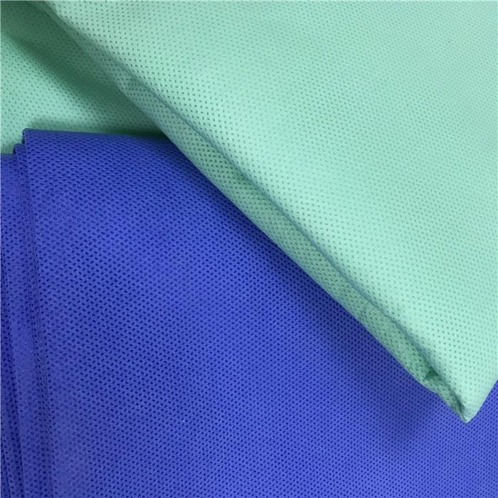 S/SS/SMS blue polypropylene spunbonded nonwoven fabric