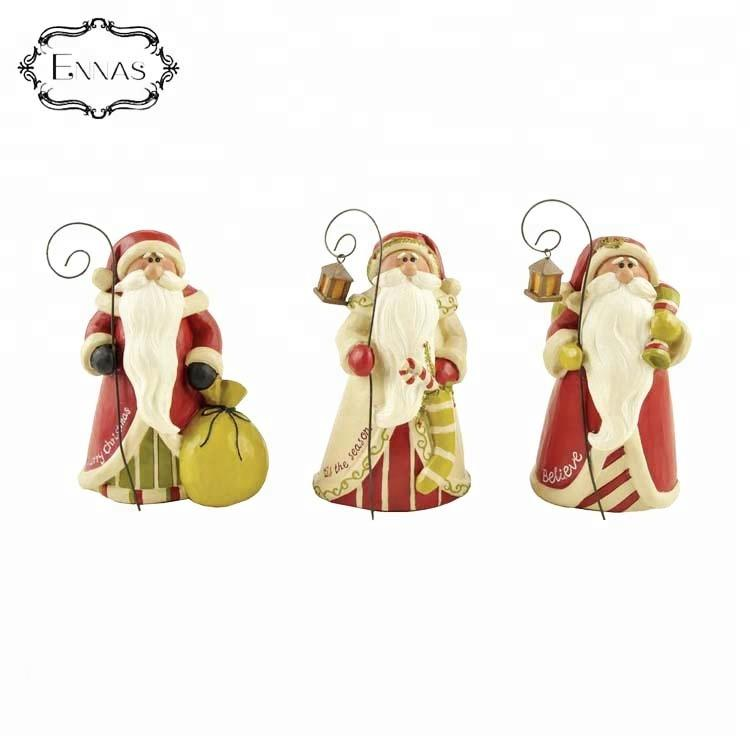 2020 Exquisite Santa Resin Figurine Resin Crafts Christmas Gift Christmas Decoration