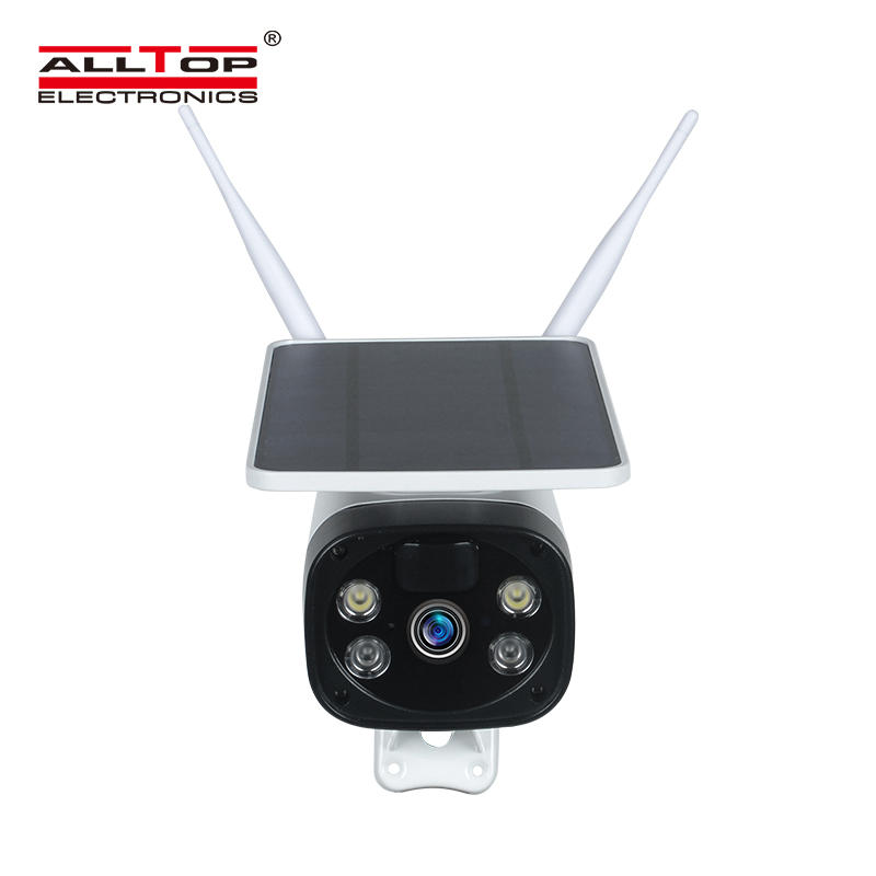 ALLTOP Hot Sale Low Consumption Security HD Surveillance CCTV Battery Powered Wireless Wifi Solar Power IP Camera