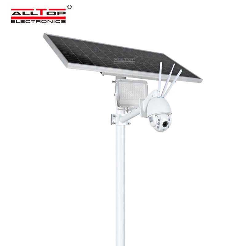 ALLTOP Remote Wireless Control 80w Solar Flood Light With Wifi Cctv Camera