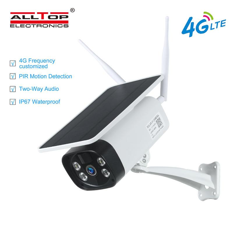 ALLTOP 2020 New Arrival 4G Wifi LTE 1080P Solar Power Battery PIR IP Camera
