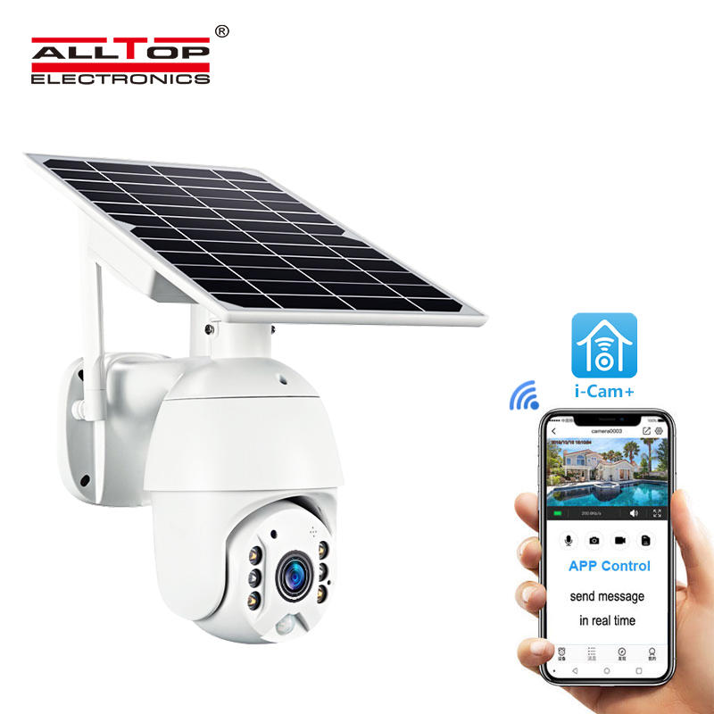 ALLTOP High Quality HD 1080P Wireless With Microphone PIR Sensor Solar PTZ Camera