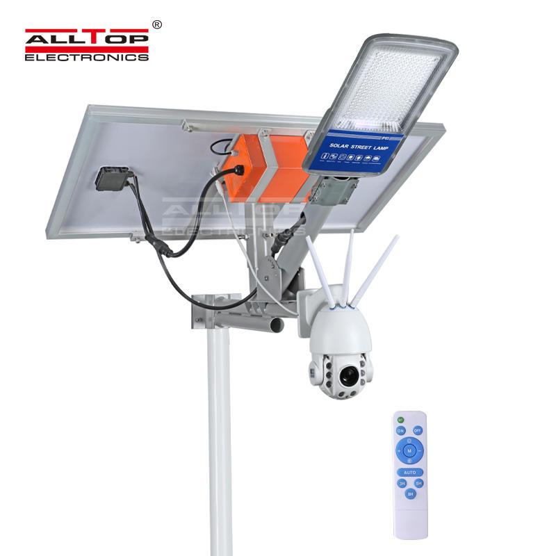ALLTOP 2020 4g cctv 1080P outdoor solar wifi camera with solar led street light
