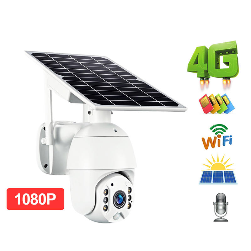 ALLTOP High Quality 4G Wifi Cctv Cam Solar Battery Powered Video Surveillance Outdoor Solar Camera
