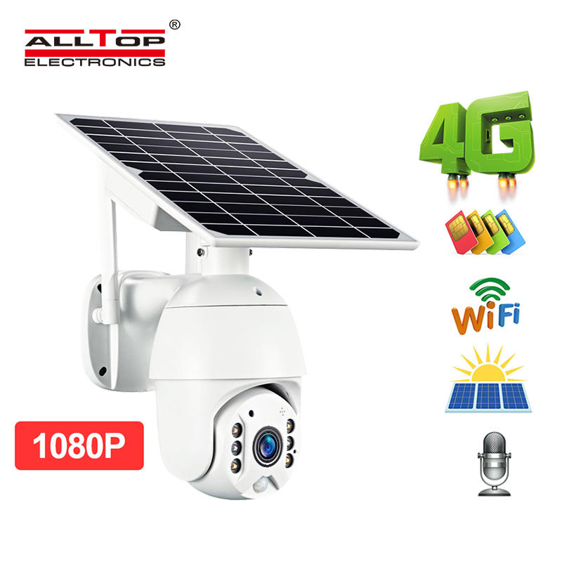 ALLTOP High quality CCTV cam video surveillance 4g wifi outdoor solar camera