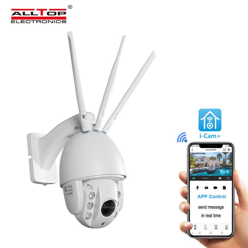 ALLTOP 80 Watt Outdoor Waterproof IP65 Solar Security LED FLood Light with CCTV camera