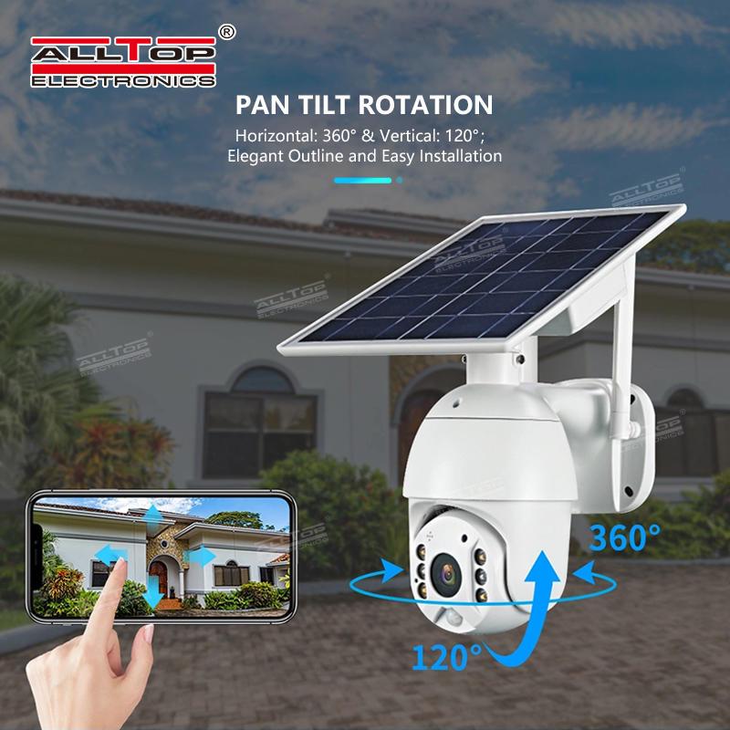 ALLTOP High quality CCTV cam video surveillance 4g wifi outdoor solar camera
