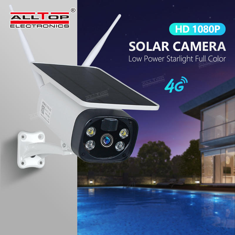 ALLTOP Outdoor 1080P Waterproof Wireless Security Surveillance Solar Panel Battery Powered WiFi IP Solar CCTV Camera