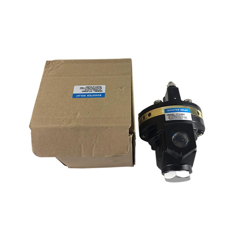 YT Series Black 1/4 Inch YT-310-N1 Pneumatic Amplifier Pneumatic Aluminum Diecasting Volume Booster