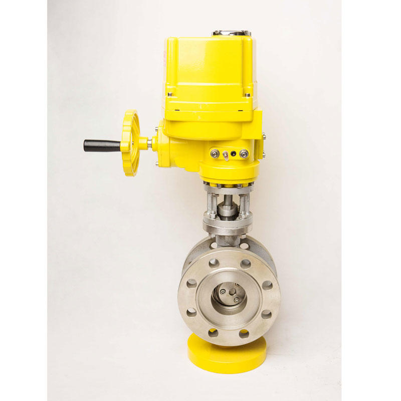 Petrochemical Industry PTQT series 24V triple butterfly valve water ball electric actuator