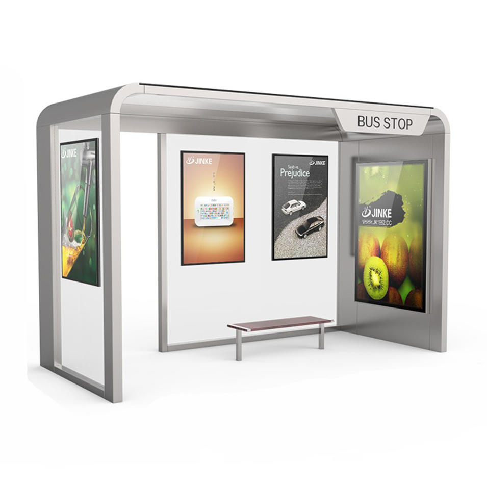 Stainless Steel Advertising Bus Stop Shelter