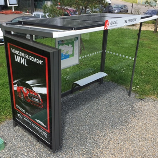 other outdoor street furniture solar bus stop shelter with led advertising light box