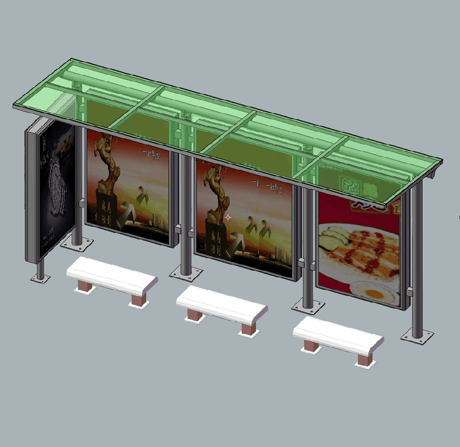 2020 hot sale passenger waiting shelter outdoor solar bus stop shelter