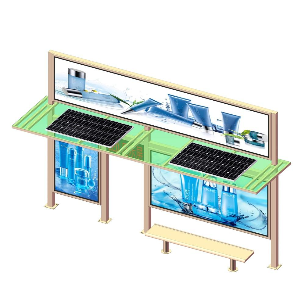 Modern bus station shelter design solar bus stop