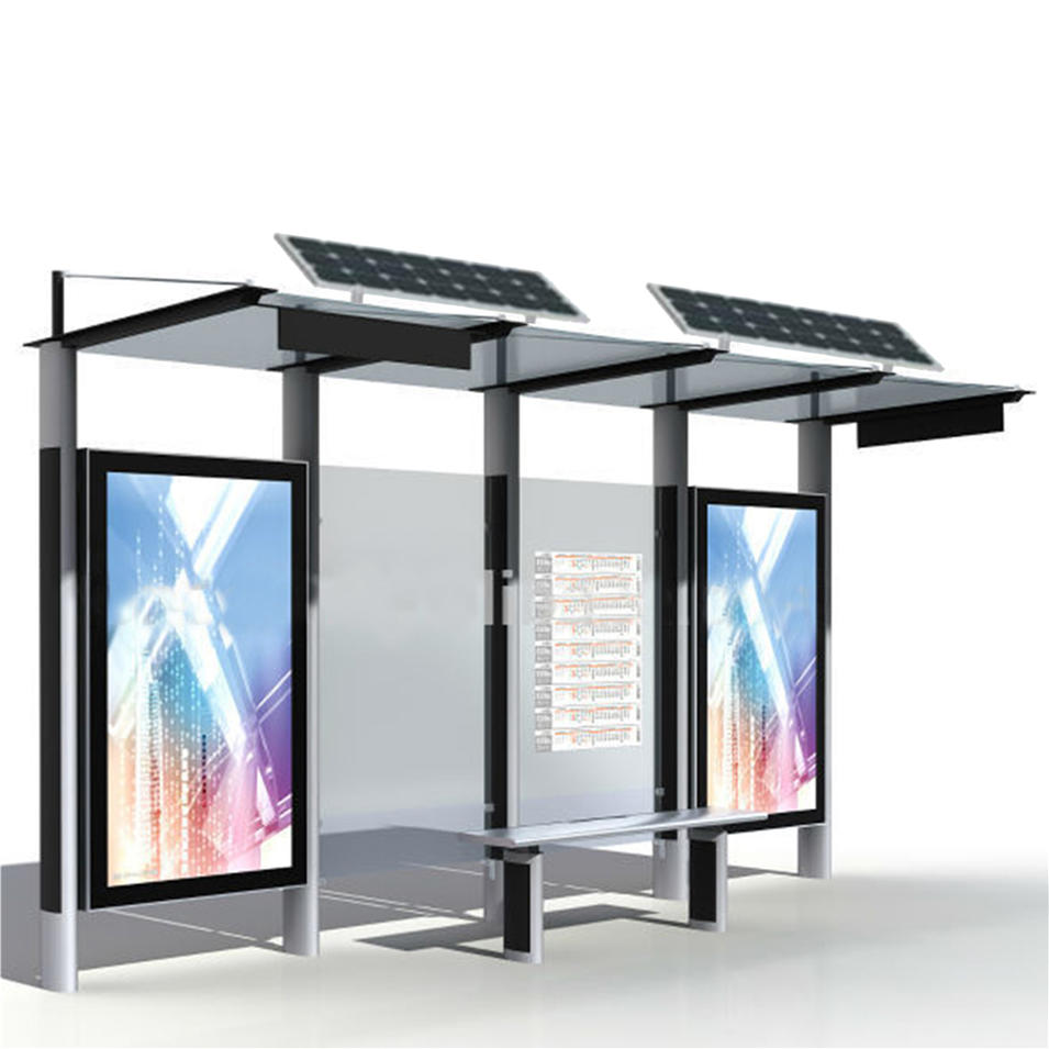 China manufacturer made solar bus stop shelter