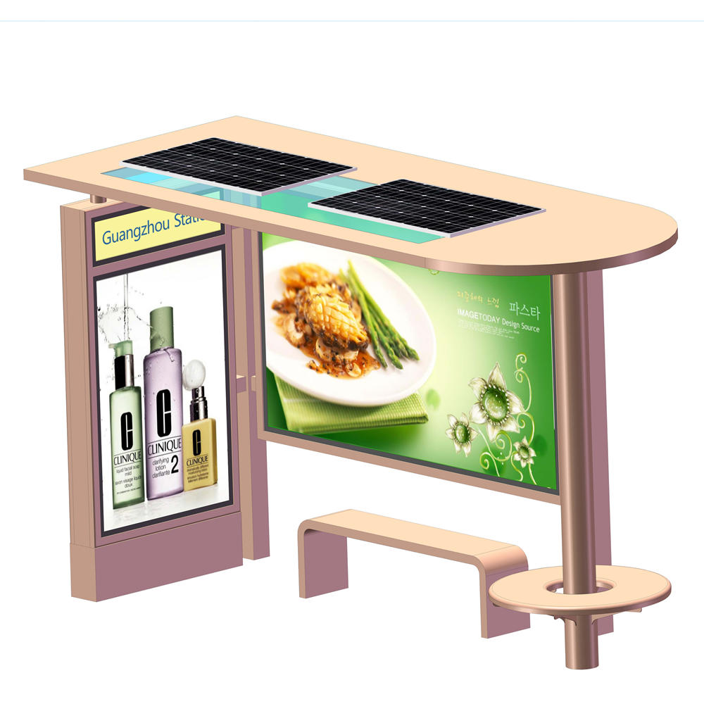 High Quality Solar Bus Stop Manufacturer Stainless Steel Bus Stop