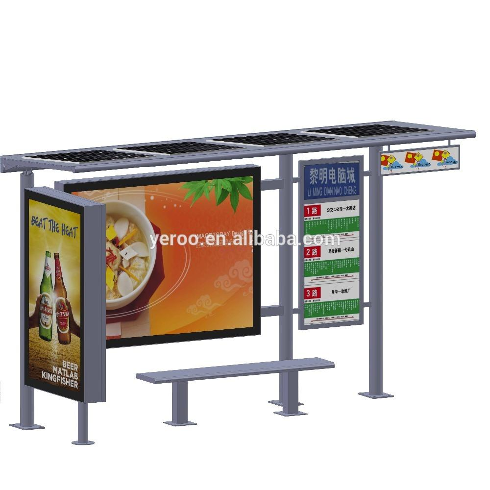High quality used modern bus station shelter design solar bus stop