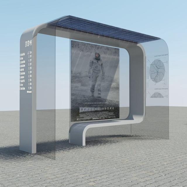 High Quality Solar Bus Stop Shelter Design For Sale