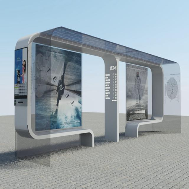 Outdoor Advertising Solar Bus Stop Shelter Suppliers