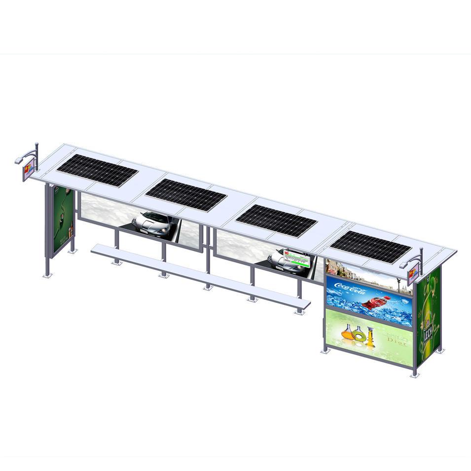 Stainless Steel Bus Shelter Stop Solar Bus Shelter