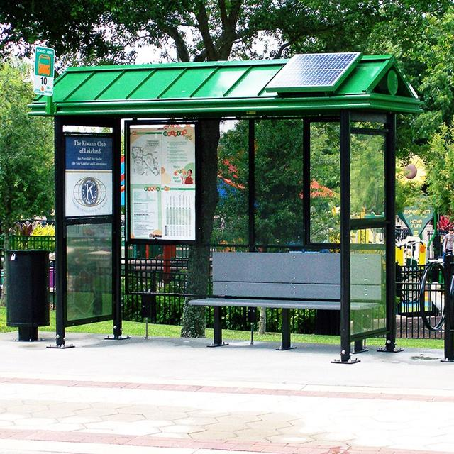 Customized stainless steel Solar Bus Stop Station