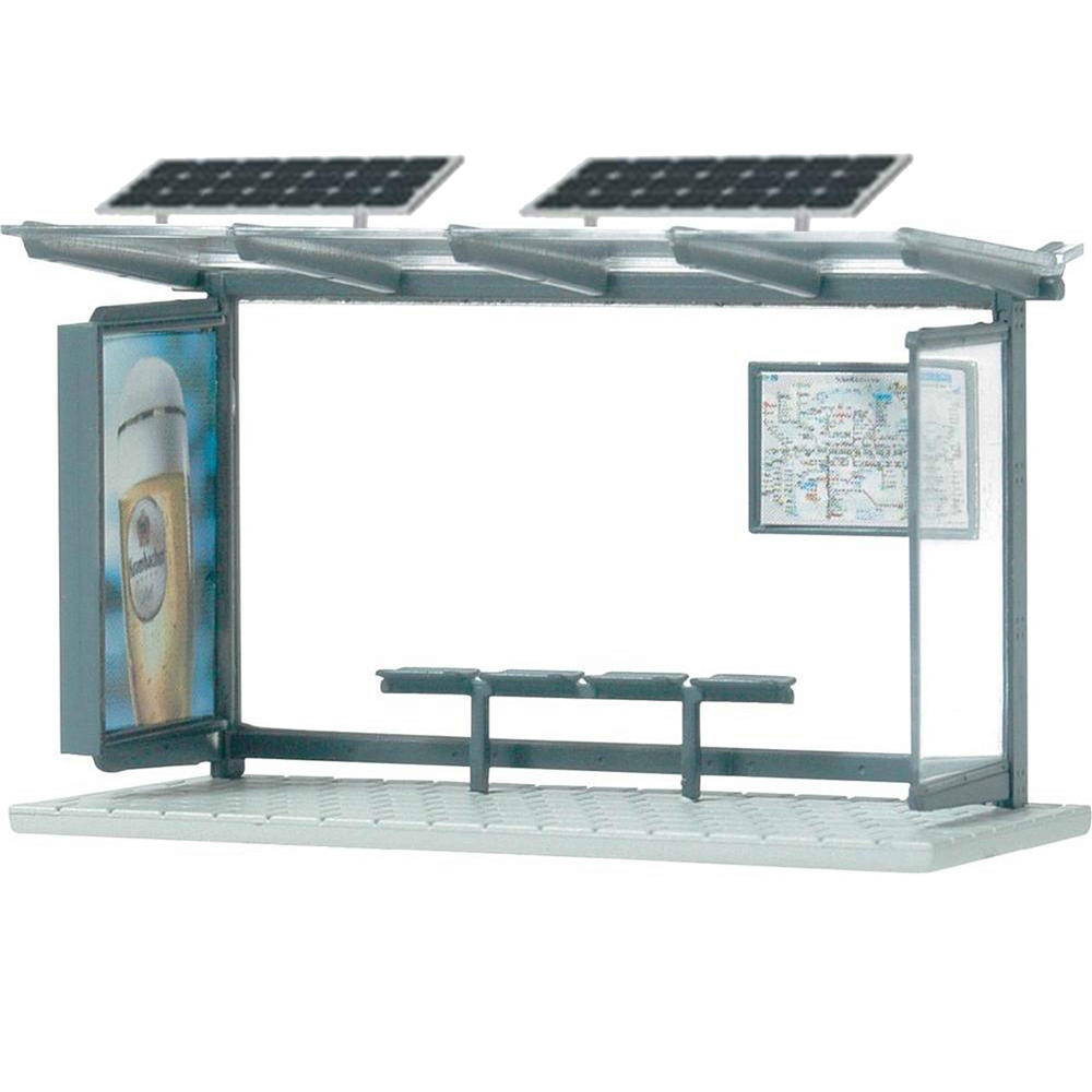 Customized Outdoor Advertising Solar Bus Station Shelter