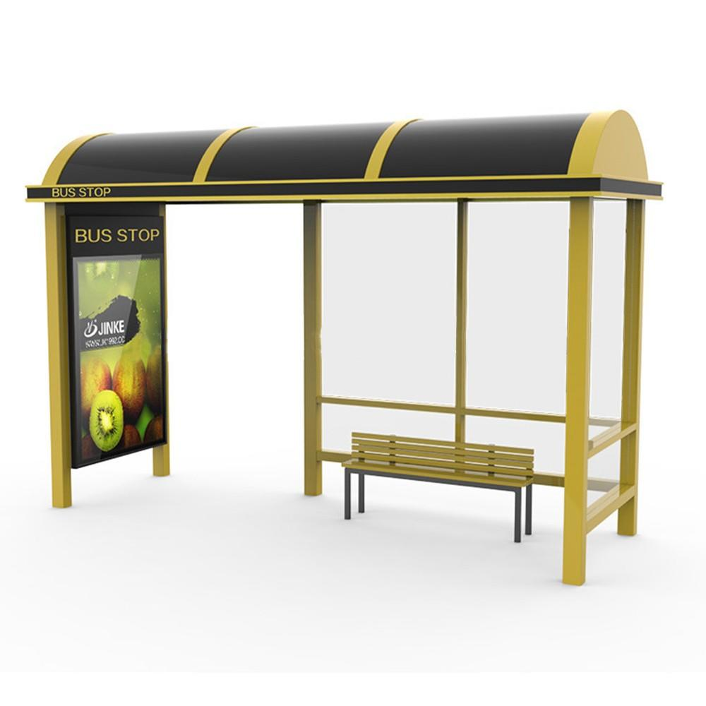 Steel material advertising bus stop shelter