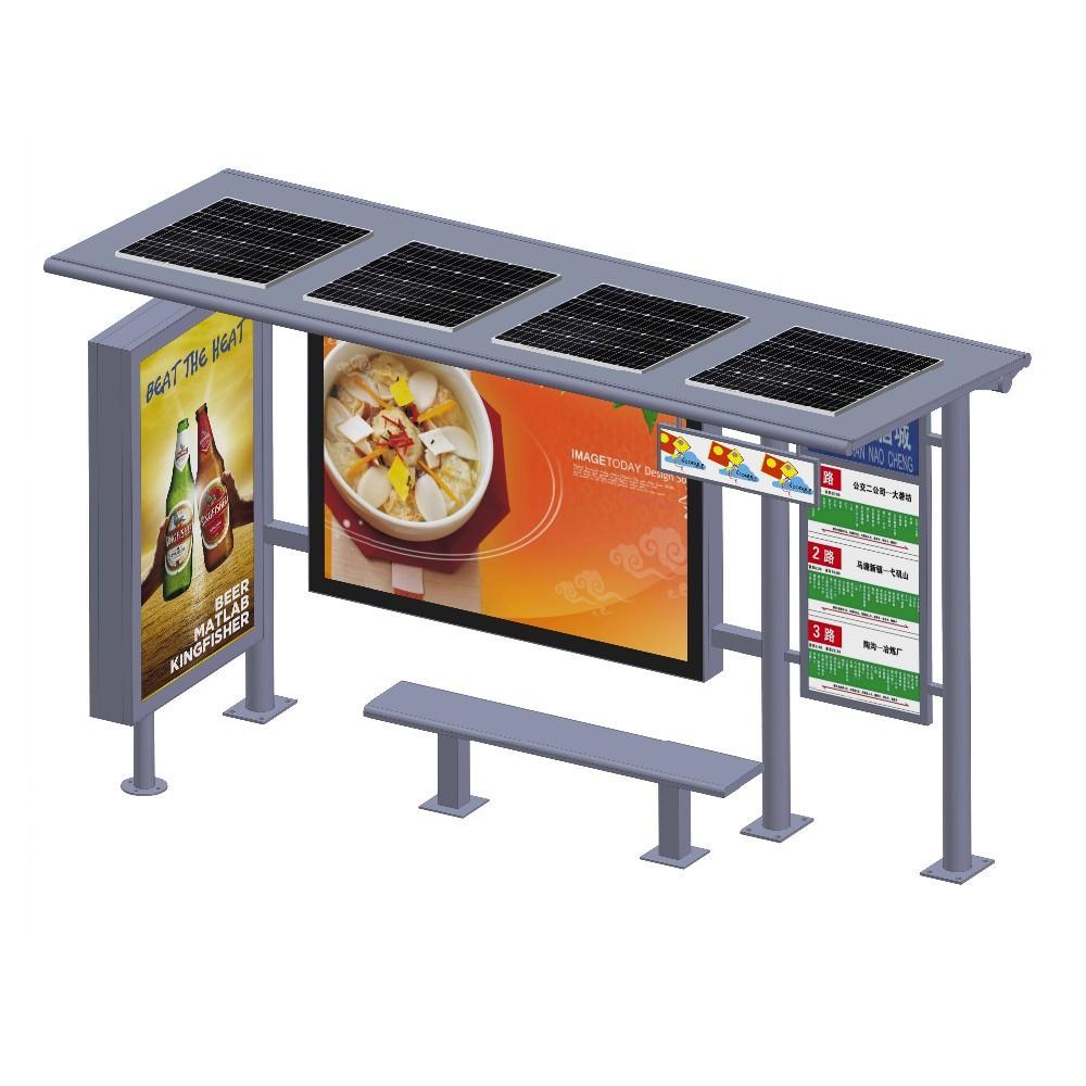 YEROO manufactory hot sale advertising solar bus stops shelter design