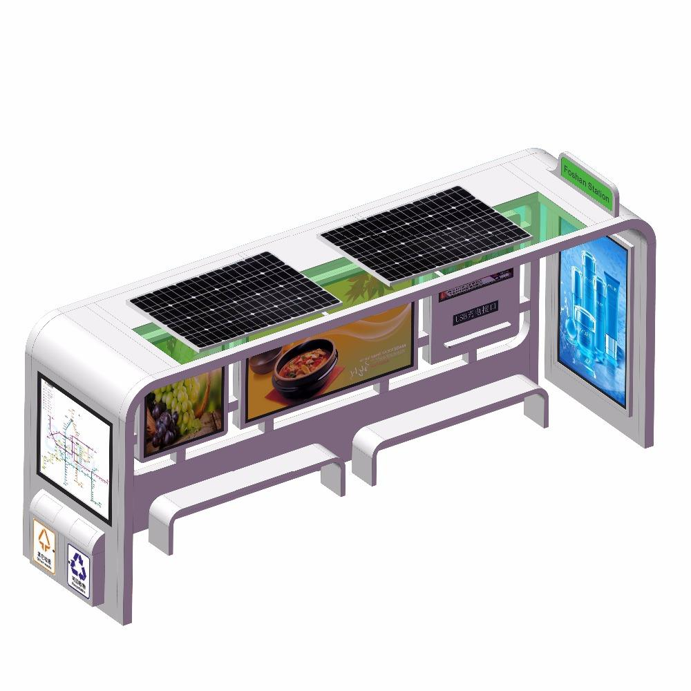 New advertising steel modern bus stop bus shelter equipment