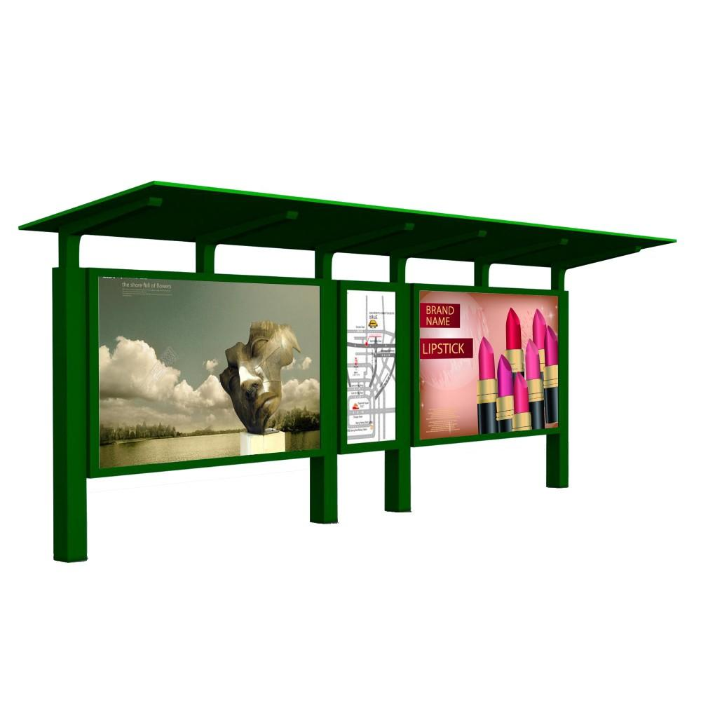Small-scale bus waiting shed solar powered bus stopshelter