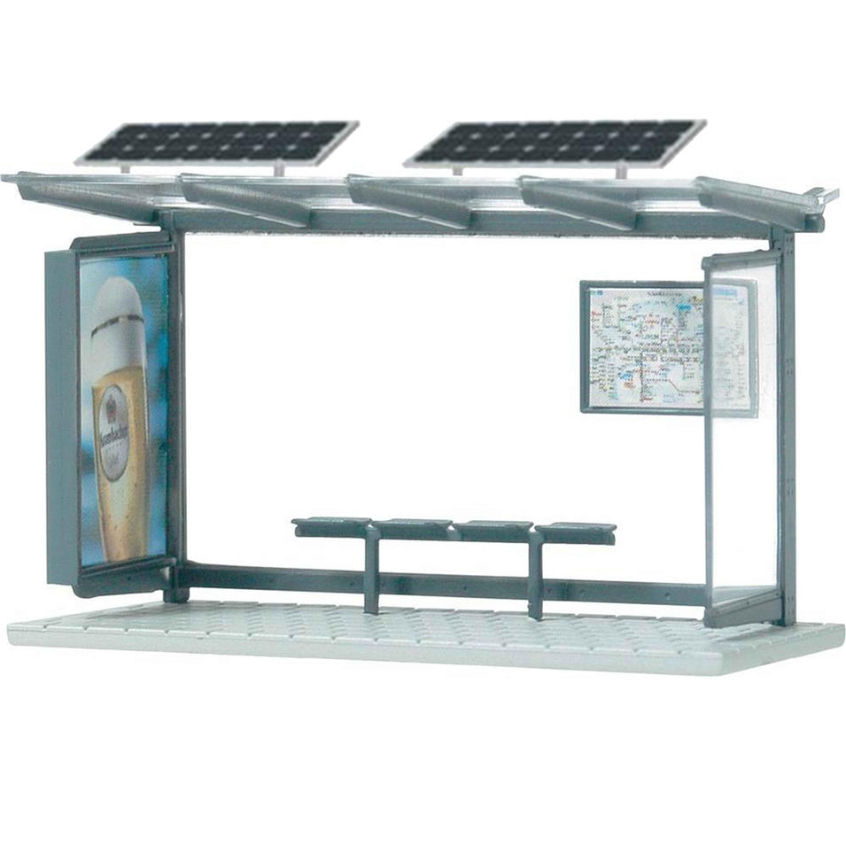 China manufacturers solar bus shelter with advertising lightbox