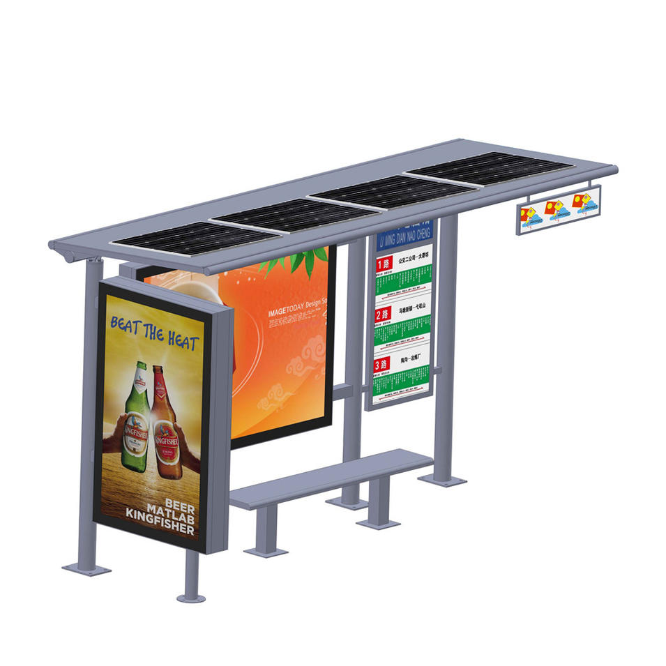 Street furniture bus kiosk bus waiting shed advertising light box shelter
