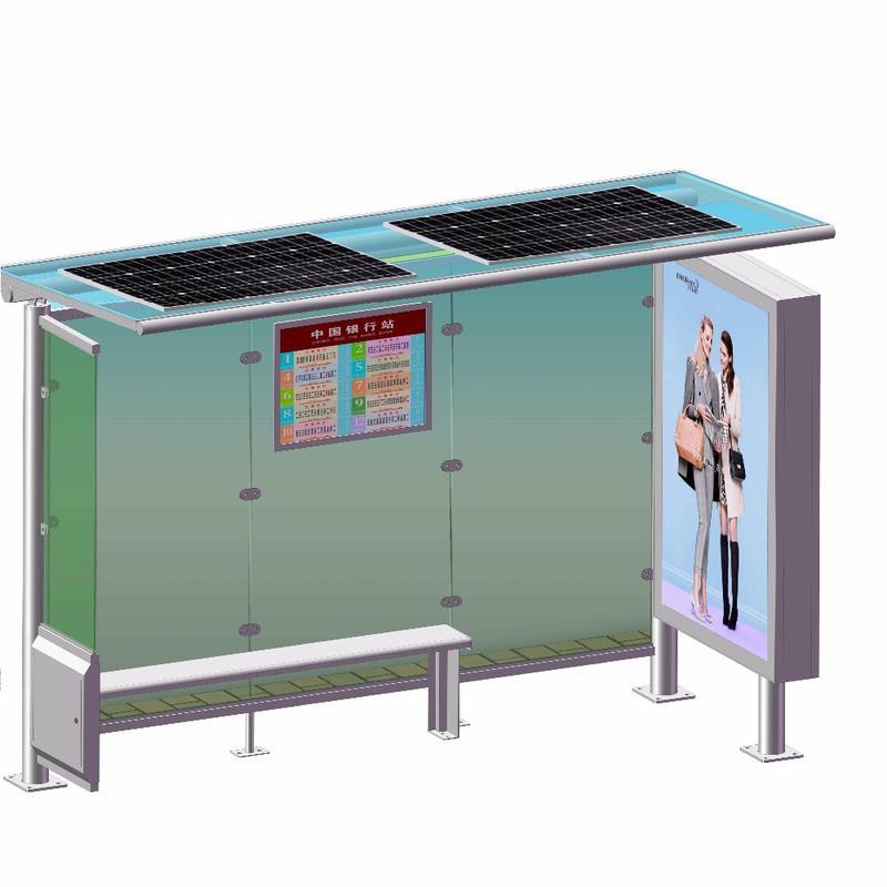 Custom-made design solar metal bus stop shelter price